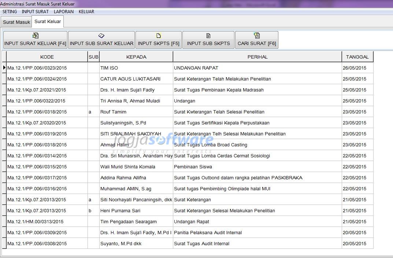 Aplikasi Kearsipan Surat Masuk Dan Keluar By Jogja Software
