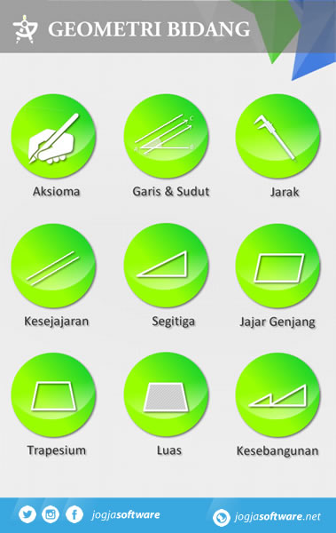 Aplikasi Android Geometri Bidang Menu Utama