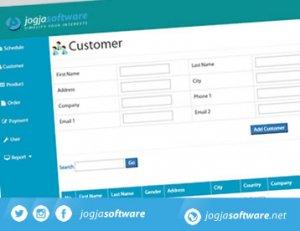 Tampilan Web Aplikasi Jadwal Pemesanan